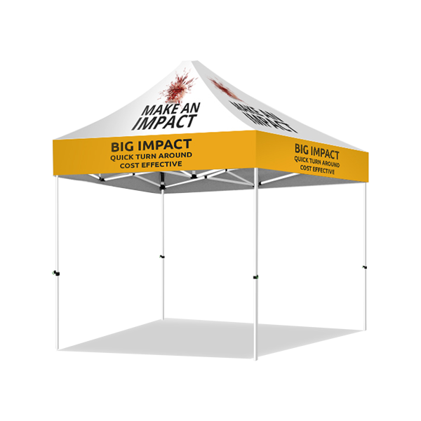 30mm Sq Steel Marquee Frame with Custom Printed Canopy