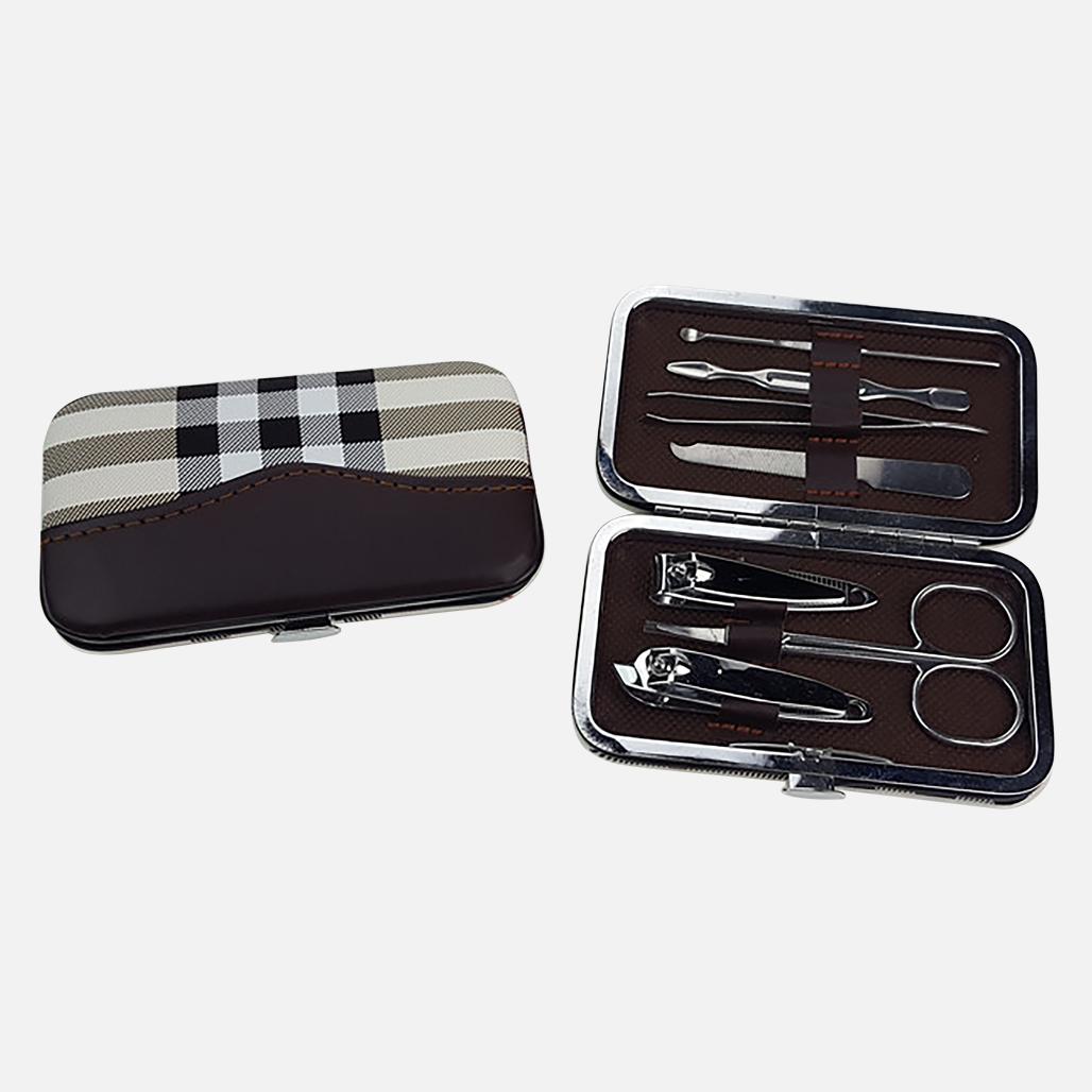 Tartan PU Stylish Manicure Set