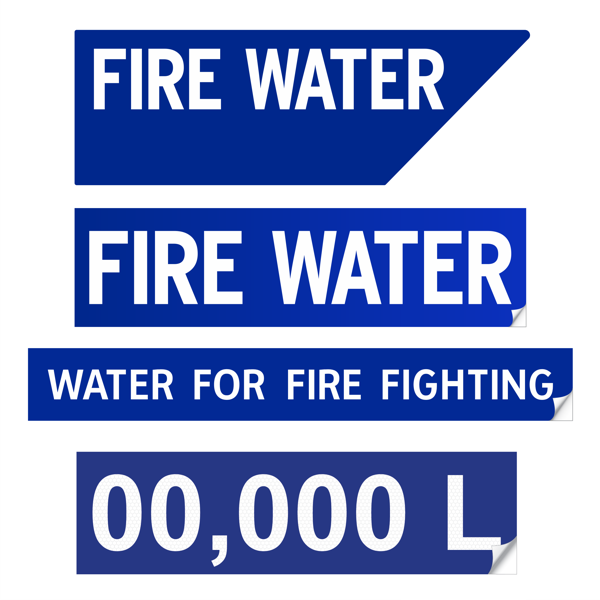 CFS Fire Water Signs & Stickers