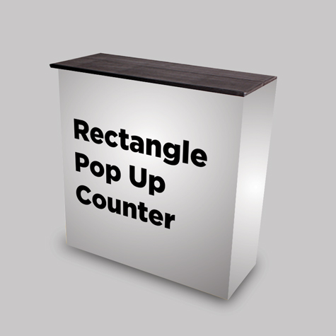 Rectangle Fabric Pop up Counter