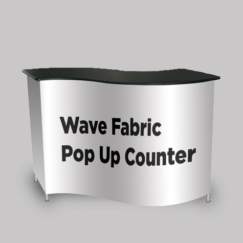 Wave Fabric Pop Up Counter