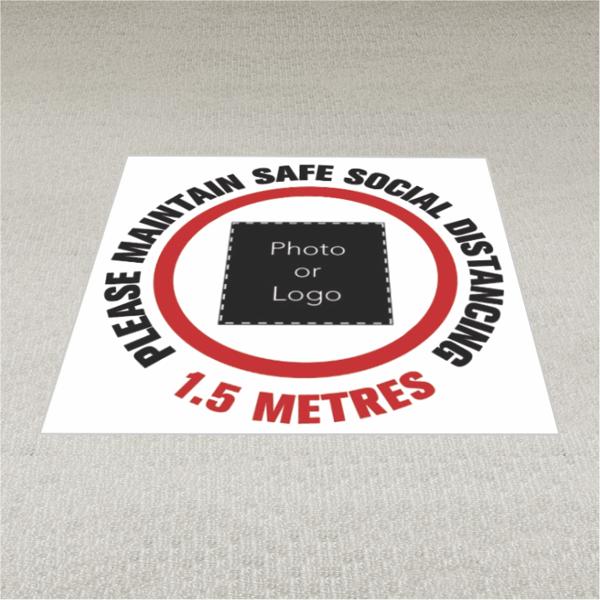 Social Distancing Queue Floor Stickers