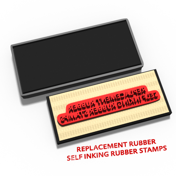 Self Inking Rubber Stamps - Rubber / Pad Only (NO unit)