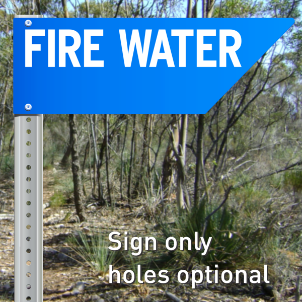 FIRE WATER sign