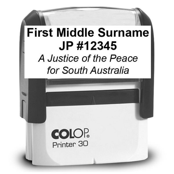 Justice of the Peace Stamp: Name & Number