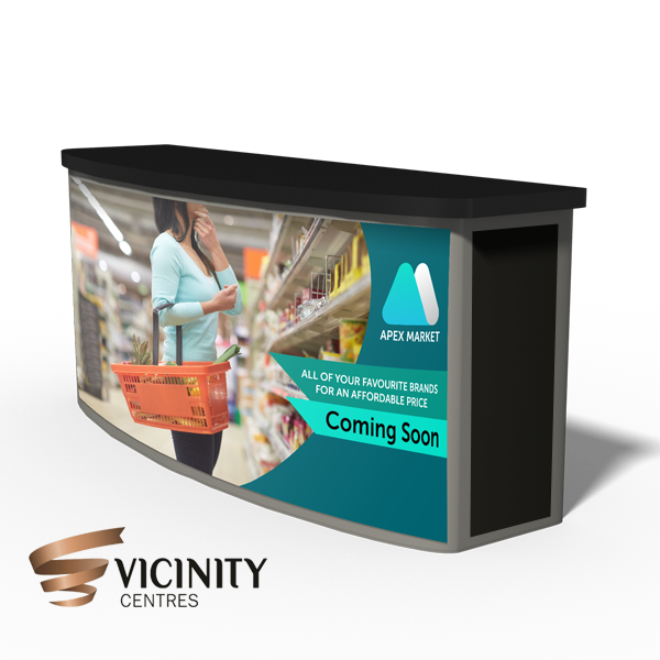 Vicinity POS Counter Sign
