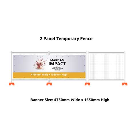 2 Panel Temporary Fence