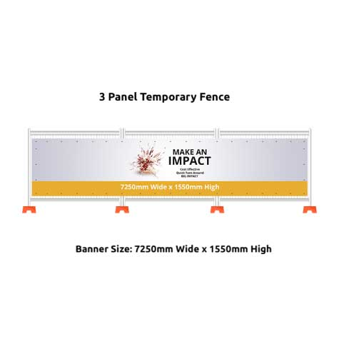 3 Panel Temporary Fence
