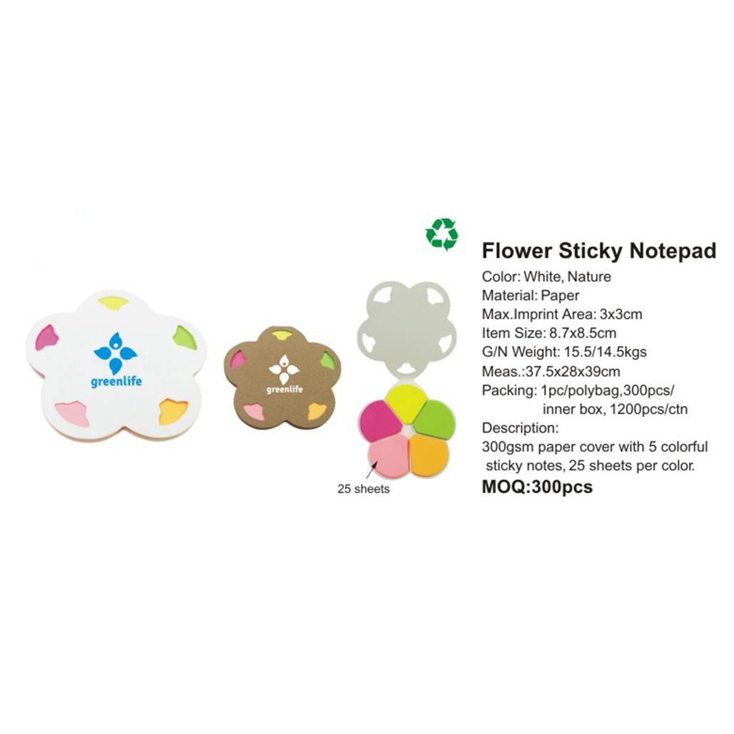 Flower Sticky Notepad 4
