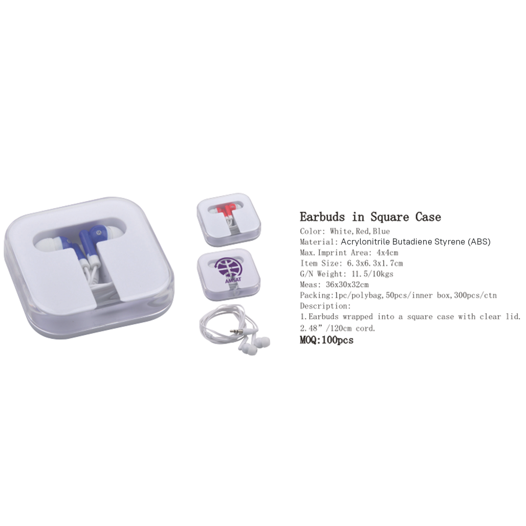 Earbuds in Square Case 3