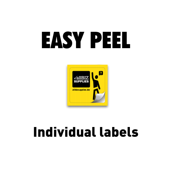 Easy Peel Individual Labels