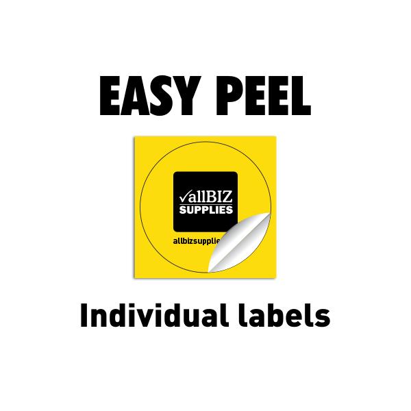 Easy Peel Individual Labels